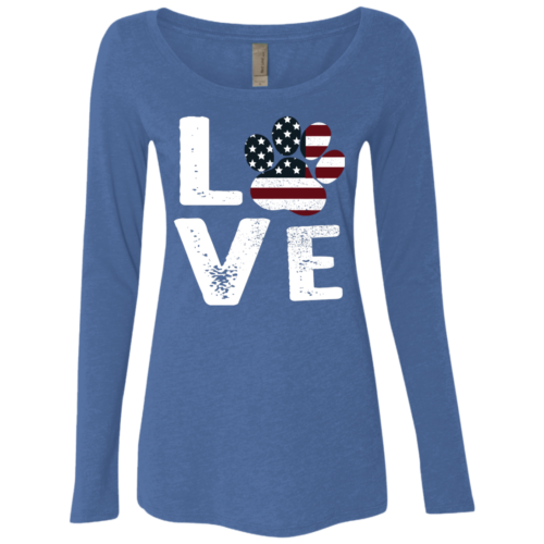 Love Paw USA Fitted Scoop Neck Long Sleeve