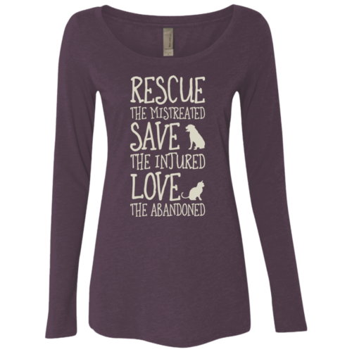 Rescue Them Fitted Scoop Neck Long Sleeve