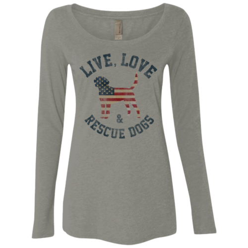 Live Love Rescue Fitted Scoop Neck Long Sleeve