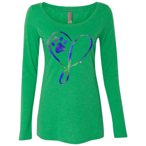 Elegant Heart Fitted Scoop Neck Long Sleeve