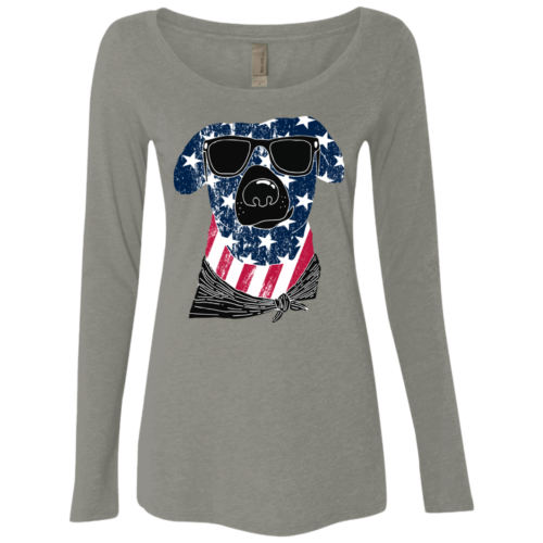 American Dog Fitted Scoop Neck Long Sleeve