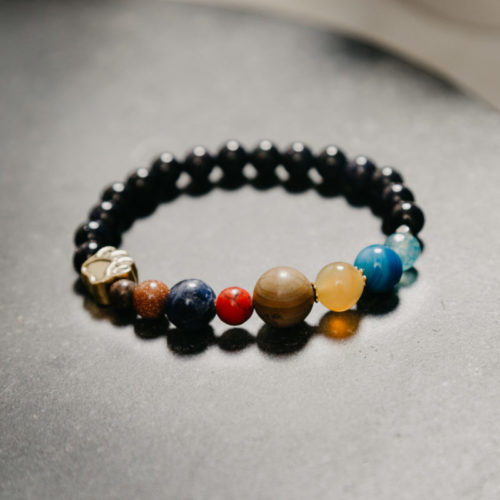 """My Dog is the Center of My Universe"" Natural Stone Bracelet: Feeds 7 Shelter Dogs"