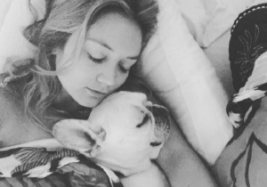 Billie Lourde Has The Paw-Fect Relationship With Late Mother Carrie Fisher's Canine