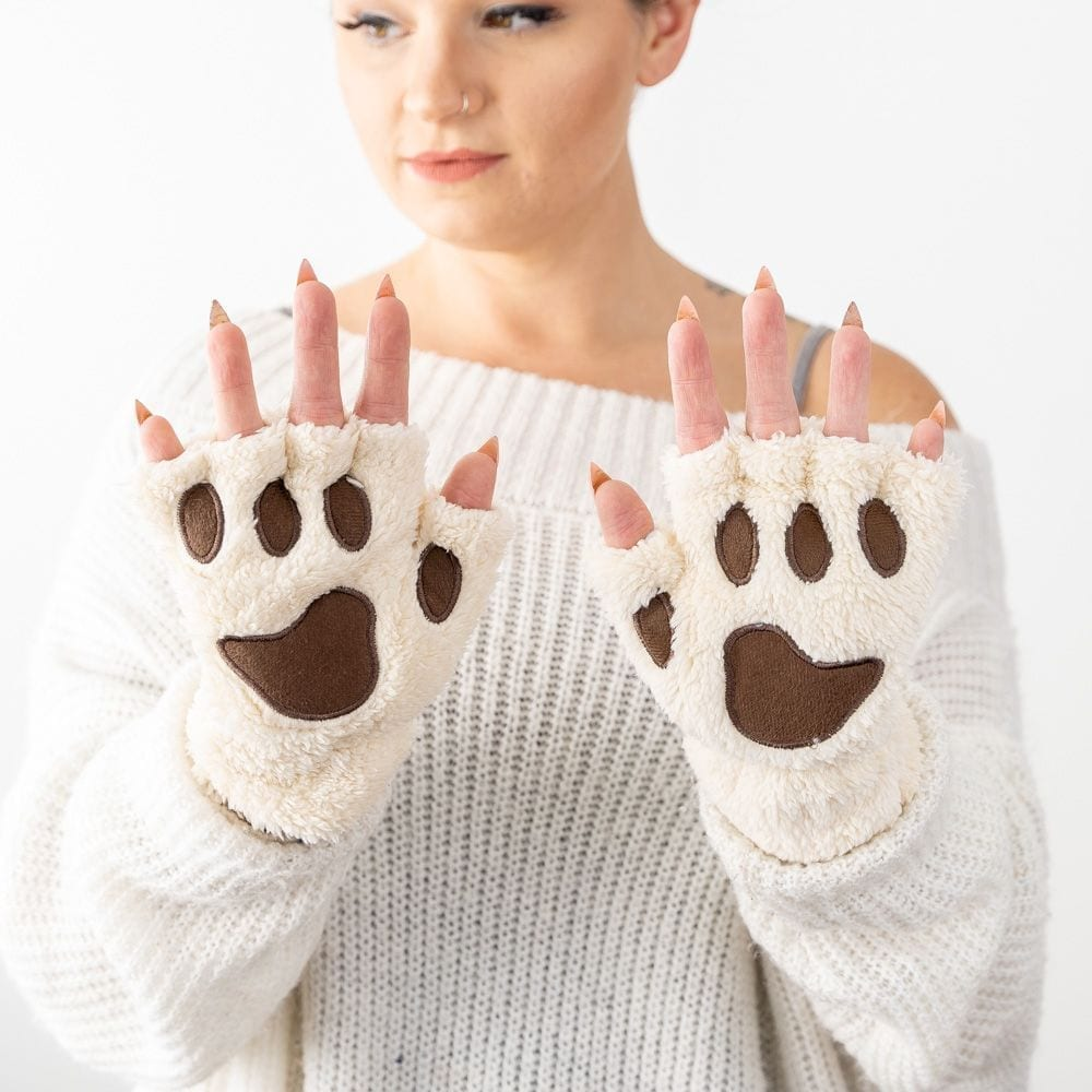 Giving Paws Warm & Fuzzy Gloves - Natural