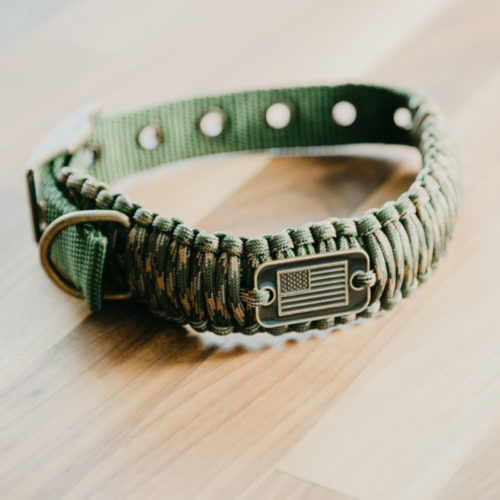 Adjustable Camo Paracord Dog Collar