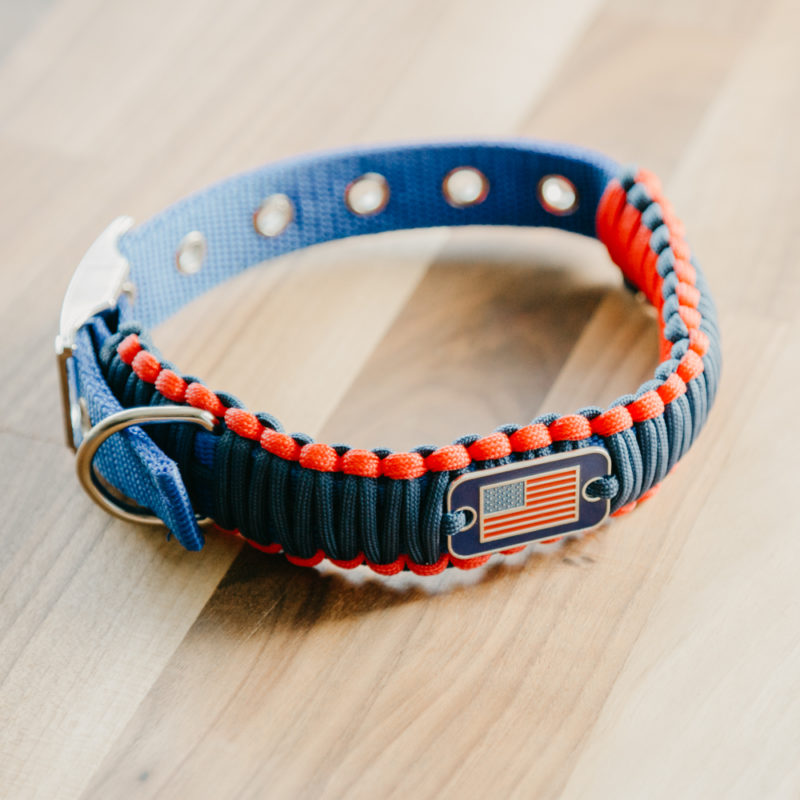Thin Blue Line Adjustable Paracord Dog Collar Helps Provide Body