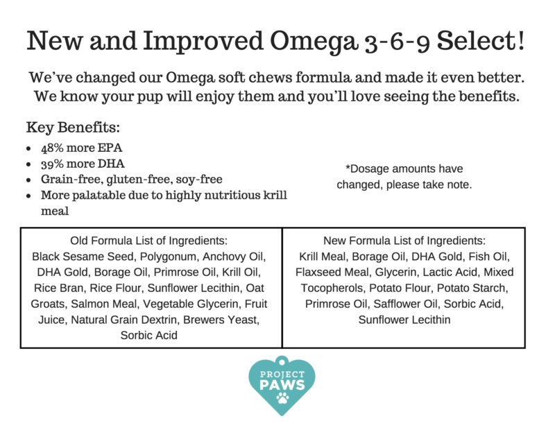 Improved Project Paws Omega Select Chews What You Need To Know