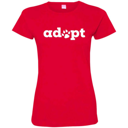 Adopt Paw Fitted Tee