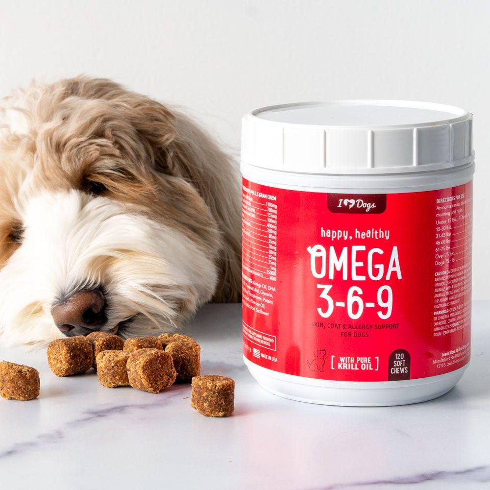 Omega 3-6-9 Select Grain Free Skin & Coat Chews With Pure Antarctic Krill Oil