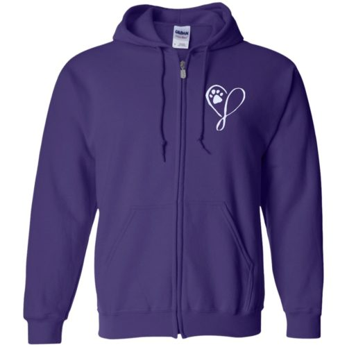Elegant Heart Embroidered Zip Hoodie
