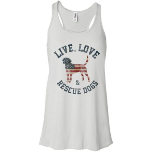 Live, Love, Rescue Dogs Flowy Tank