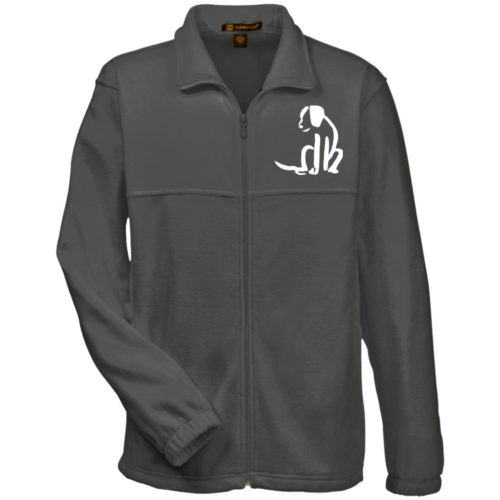 Dog Sketch Embroidered Fleece Full Zip Jacket