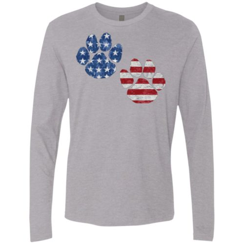 Flag Paws USA Premium Long Sleeve Tee