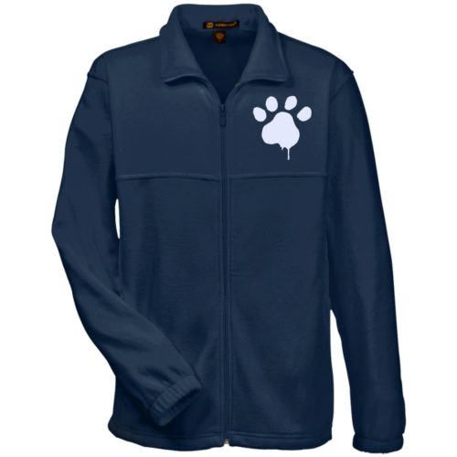 Paint Paw Embroidered Fleece Full Zip Jacket