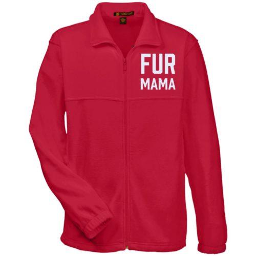 Fur Mama Embroidered Fleece Jacket