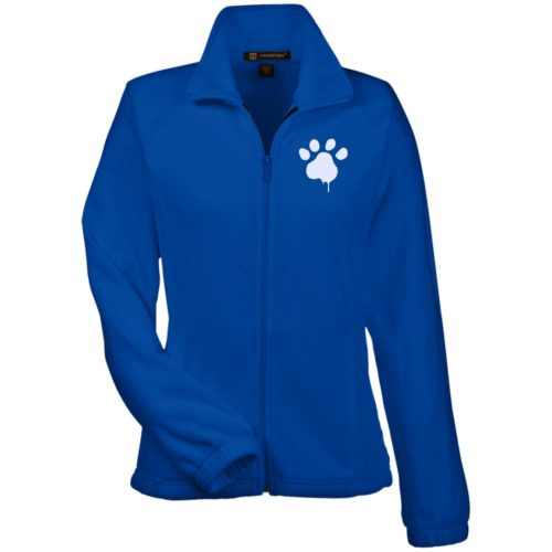 Paint Paw Embroidered Ladies' Fleece Full Zip Jacket