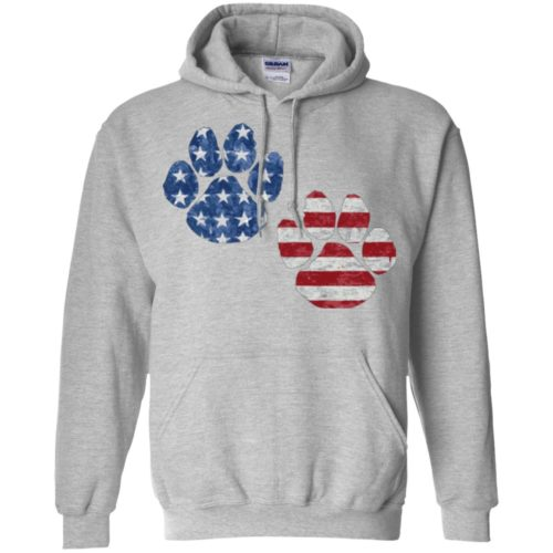 Flag Paws USA Pullover Hoodie