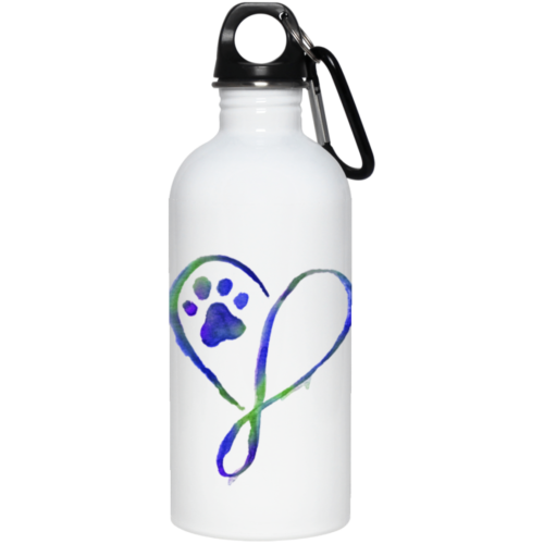 Elegant Heart Stainless Steel Water Bottle