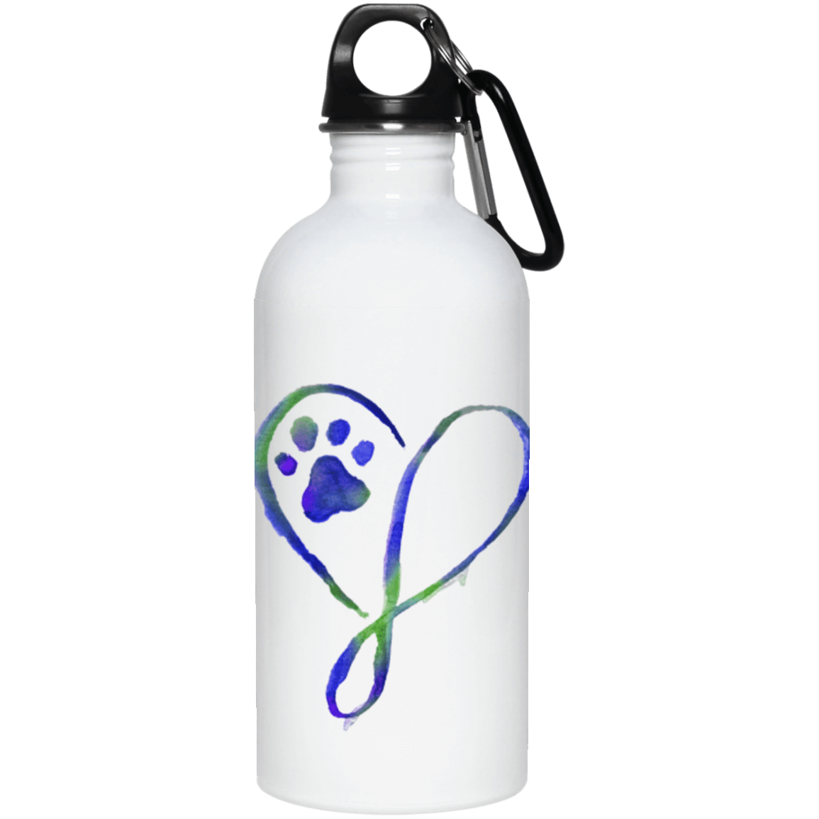 Elegant Heart Stainless Steel Water Bottle – iHeartDogs.com