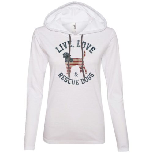 Live, Love, Rescue Dogs Fitted T-Shirt Hoodie