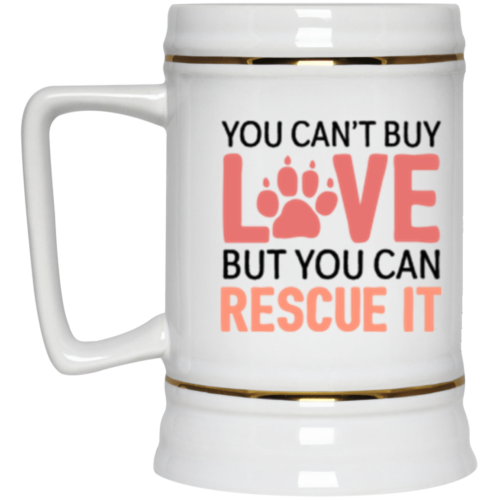 Rescue Love Beer Stein 22oz.