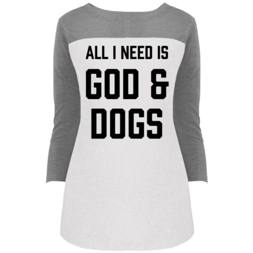 God And Dogs Colorblock 3/4 Sleeve