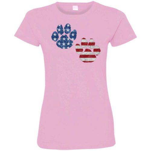 Flag Paws USA Ladies' Premium T-Shirt