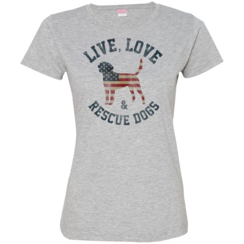 Live, Love, Rescue Dogs Fitted Tee