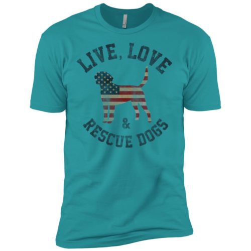 Live, Love, Rescue Dogs Premium Tee