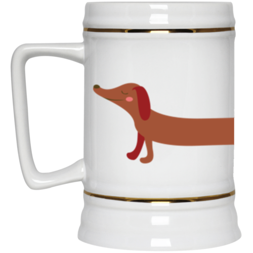 Dachshund Stretch Beer Stein 22oz.
