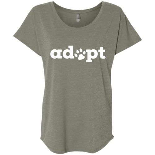 Adopt Paw Ladies' Slouchy T-Shirt