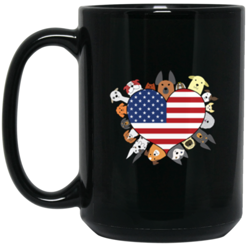 Heart Dog USA 15 oz. Mug