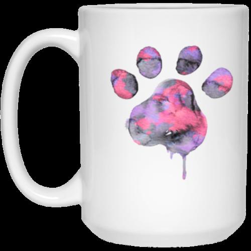 Watercolor Paw 15 oz. Mug