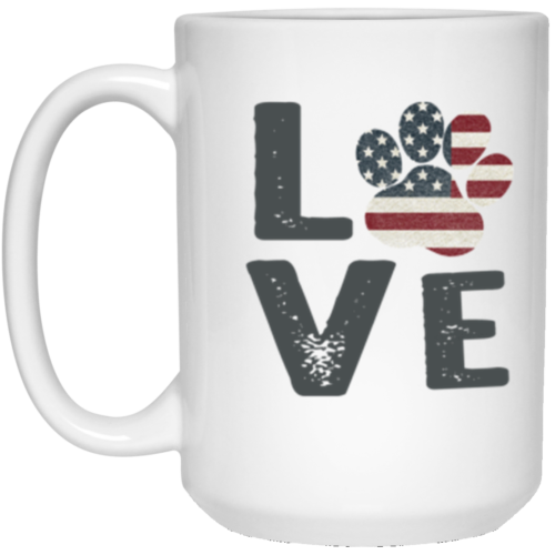 Love Paw USA 15 oz. Mug