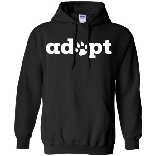 Adopt Paw Pullover Hoodie
