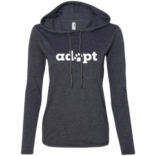 Adopt Paw Fitted T-Shirt Hoodie