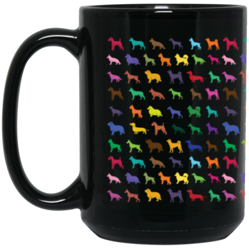 Dog Breed Pattern 15 oz. Mug