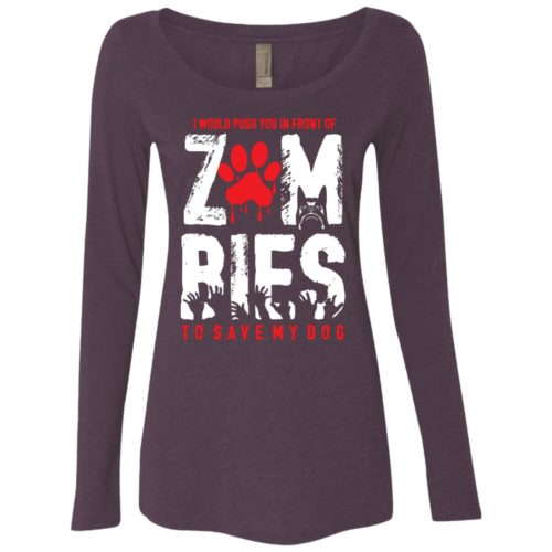 Zombies Fitted Scoop Neck Long Sleeve