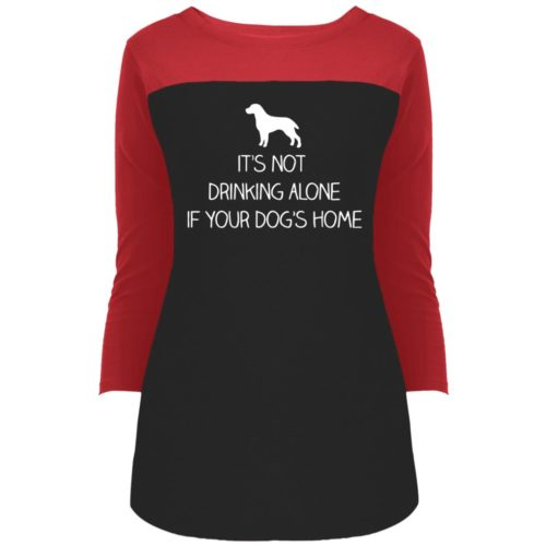 Drink Alone Colorblock 3/4 Sleeve