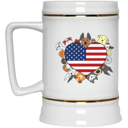 Heart Dog USA Beer Stein 22oz.