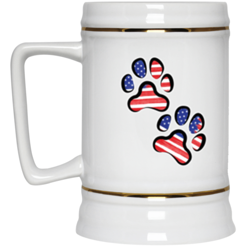 Double Paws USA Beer Stein 22oz.