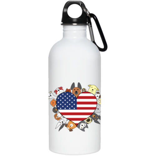 Heart Dog USA Stainless Steel Water Bottle