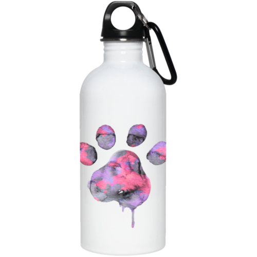 Watercolor Paw Stainless Steel Water Bottle