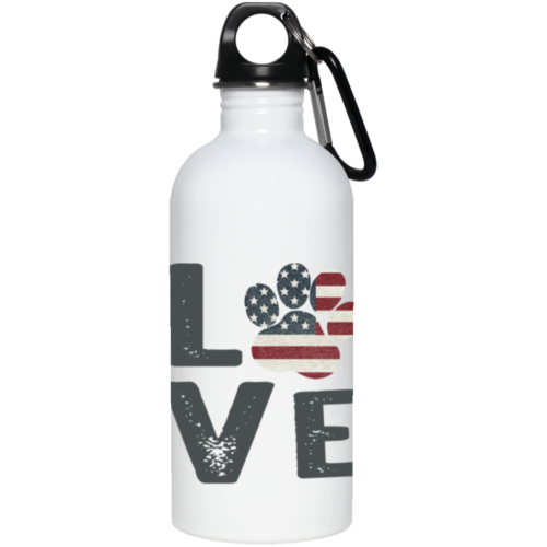 Love Paw USA Stainless Steel Water Bottle