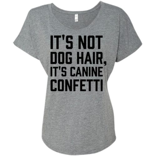 Canine Confetti Ladies' Slouchy T-Shirt