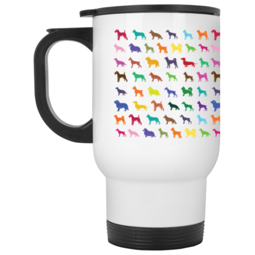 Dog Breed Pattern Stainless Steel Travel Mug