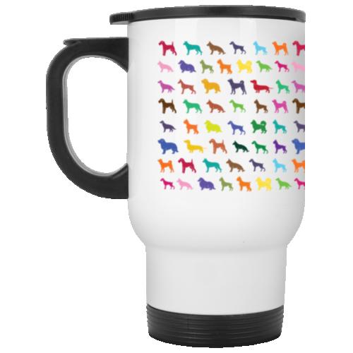 Dog Breed Pattern Stainless Steel Travel Mug
