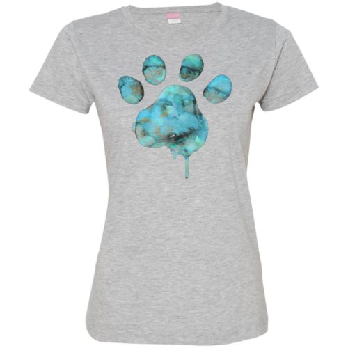 Watercolor Paw Fitted Tee