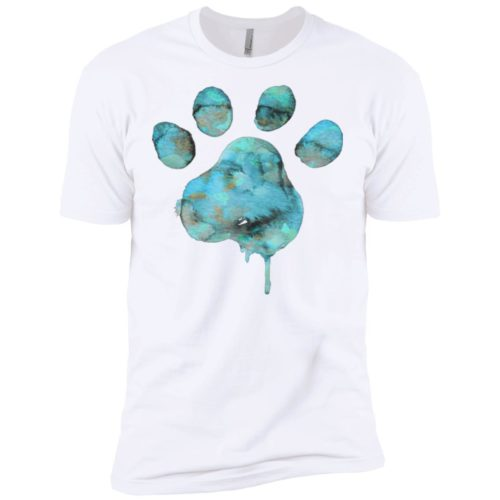 Watercolor Paw Blue Premium Tee