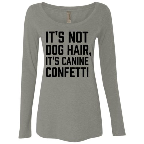 Canine Confetti Fitted Scoop Neck Long Sleeve